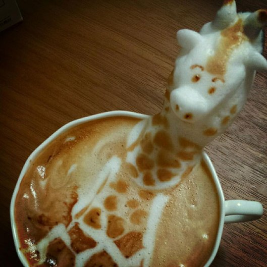 I wish I could make coffee art like this.