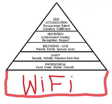 Maslow forgot the most important need: the INTERNET!